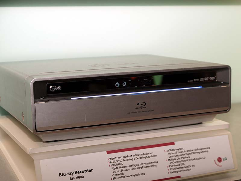 Blu-ray recorders Lg